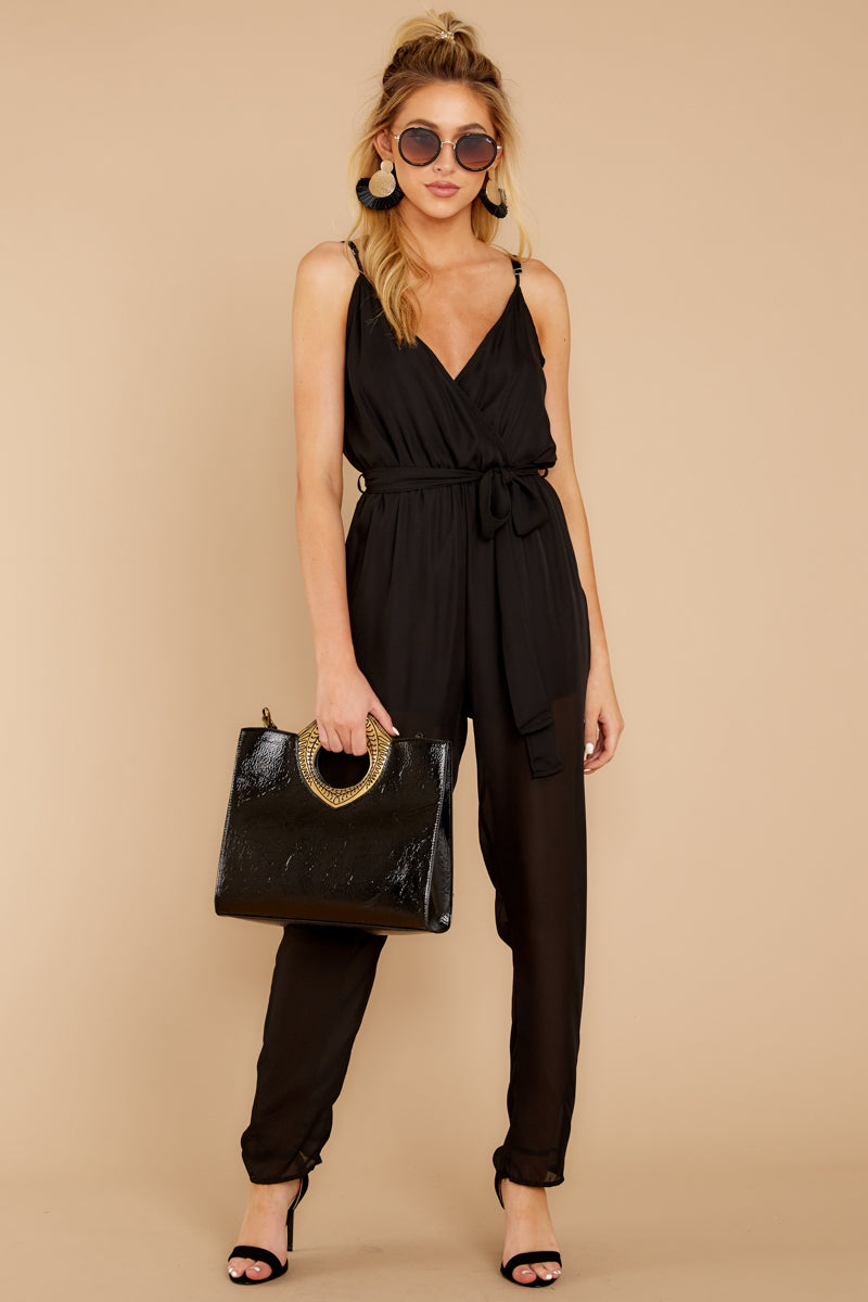 1 Jump Into Things Black Jumpsuit at reddressboutique.com