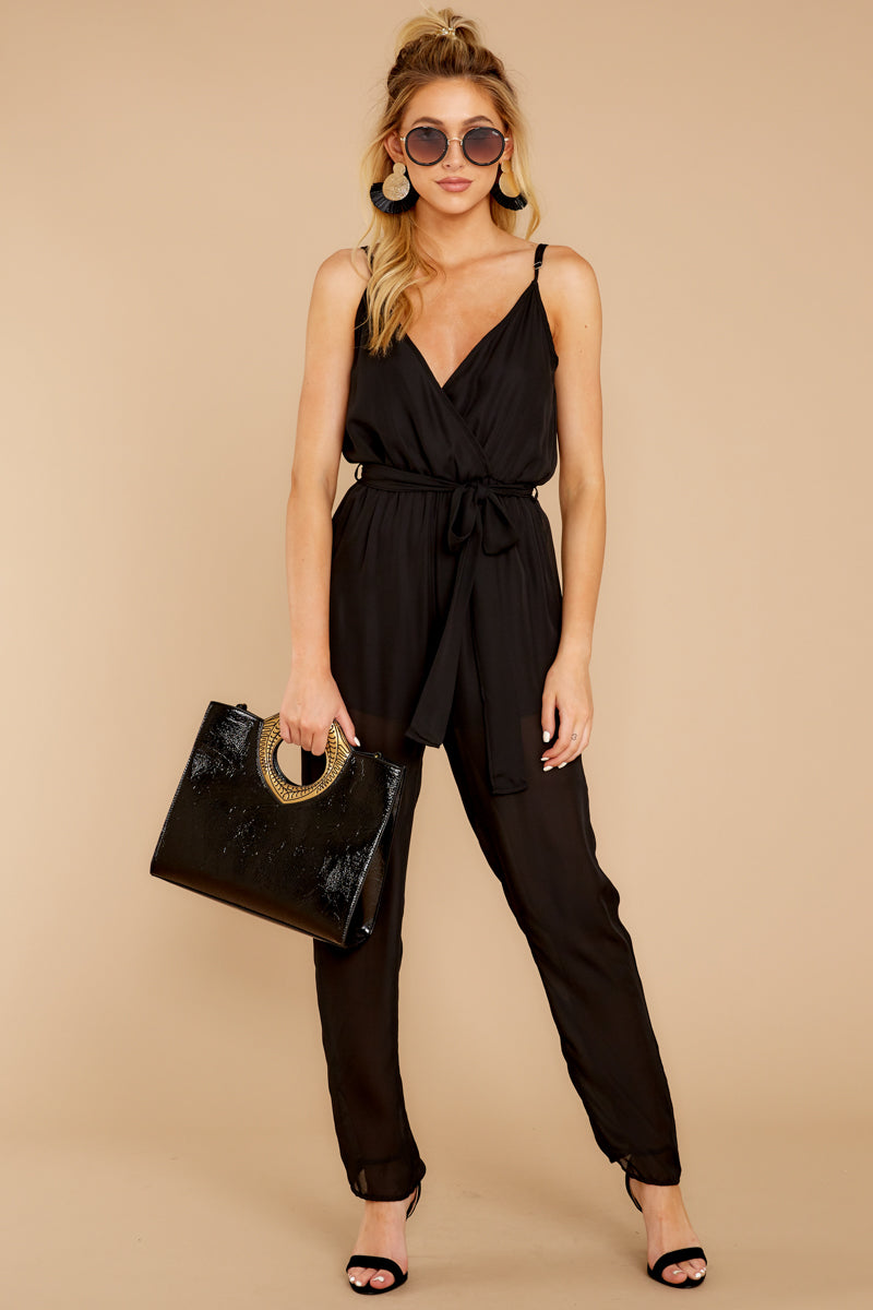 3 Jump Into Things Black Jumpsuit at reddressboutique.com