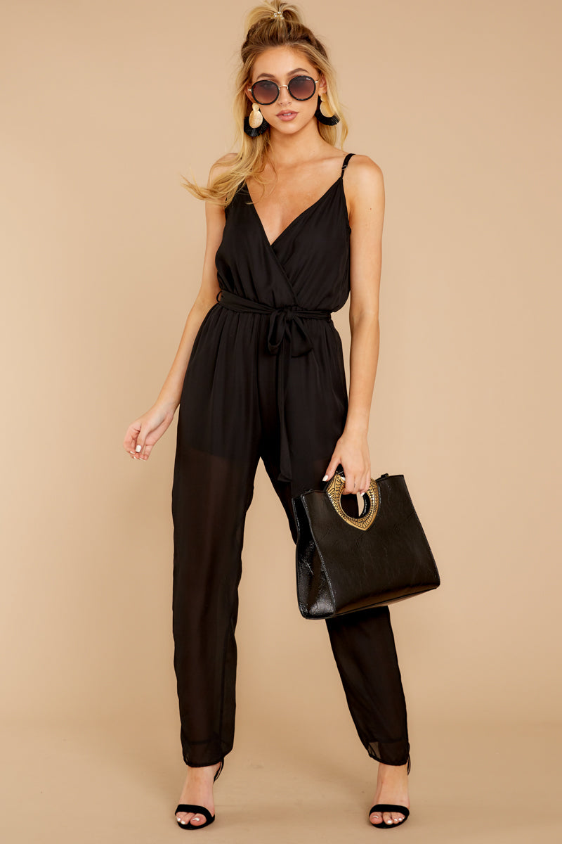2 Jump Into Things Black Jumpsuit at reddressboutique.com