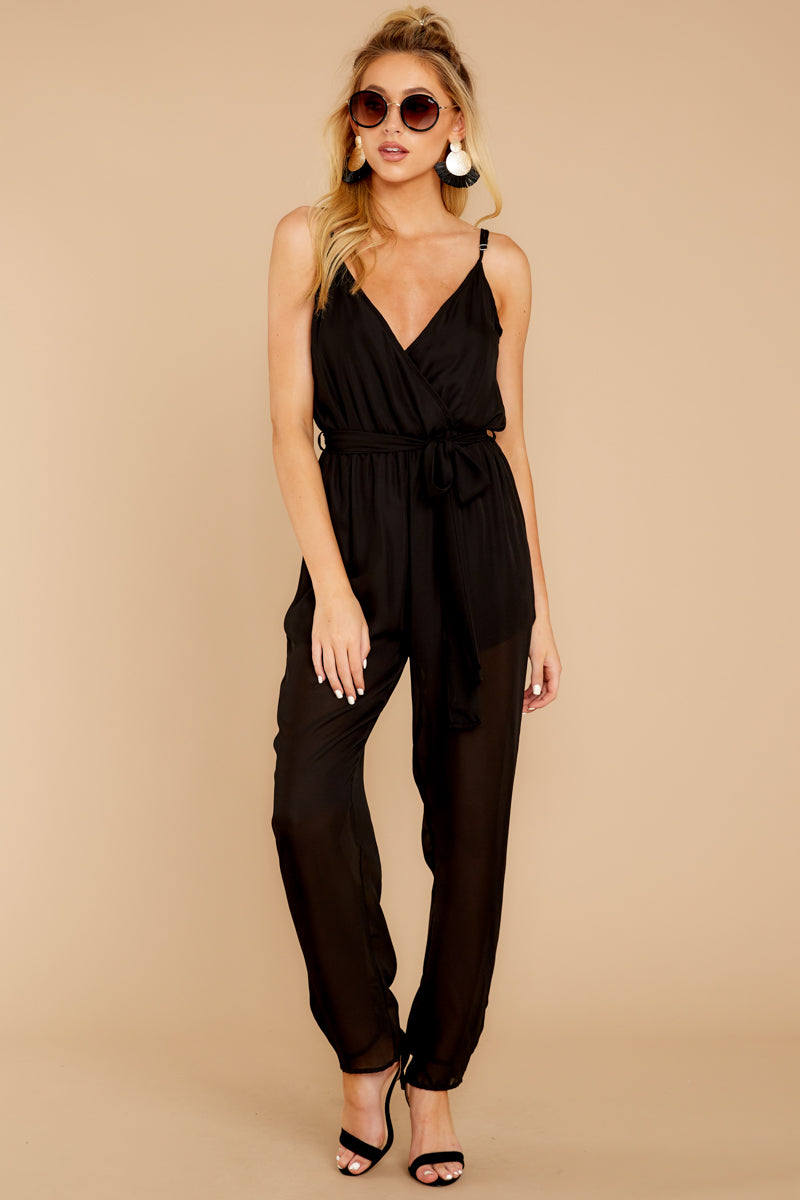5 Jump Into Things Black Jumpsuit at reddressboutique.com