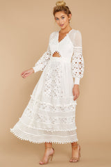 5 All For Hope White Lace Maxi Dress at reddressboutique.com