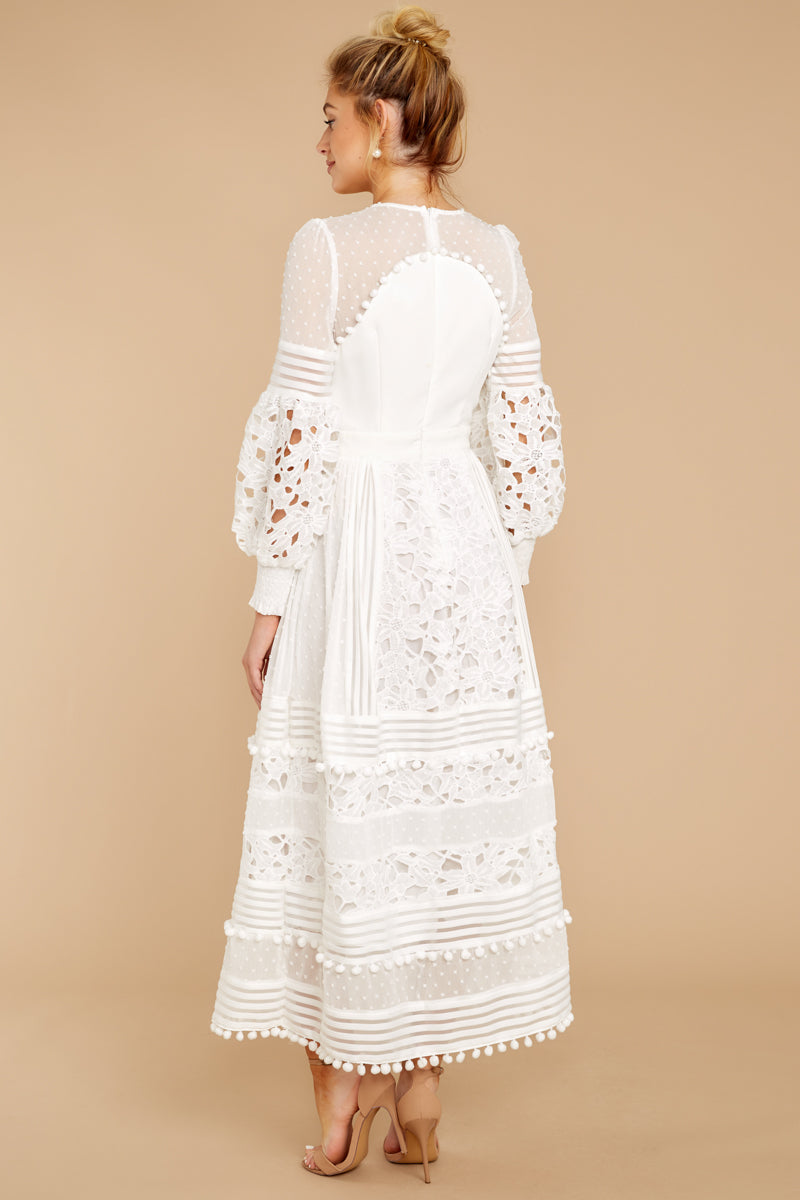 6 All For Hope White Lace Maxi Dress at reddressboutique.com