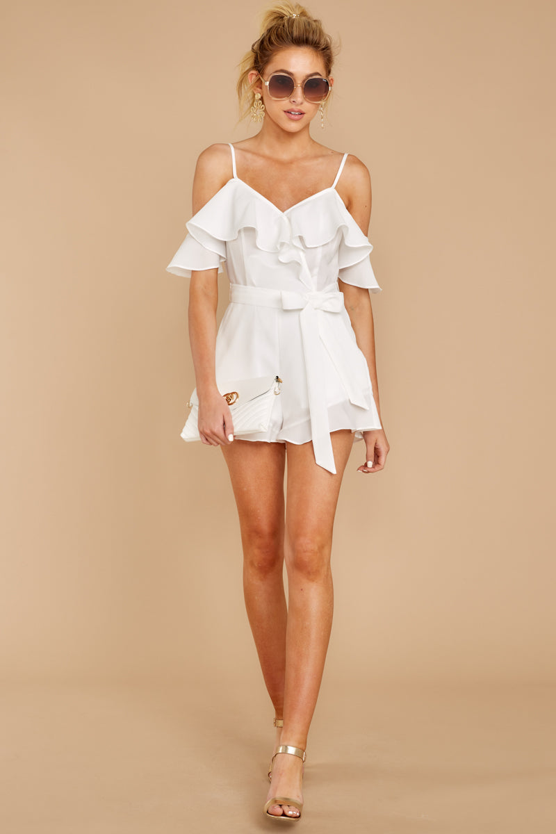 4 Ready For A Trip To The Coast White Romper at reddress.com