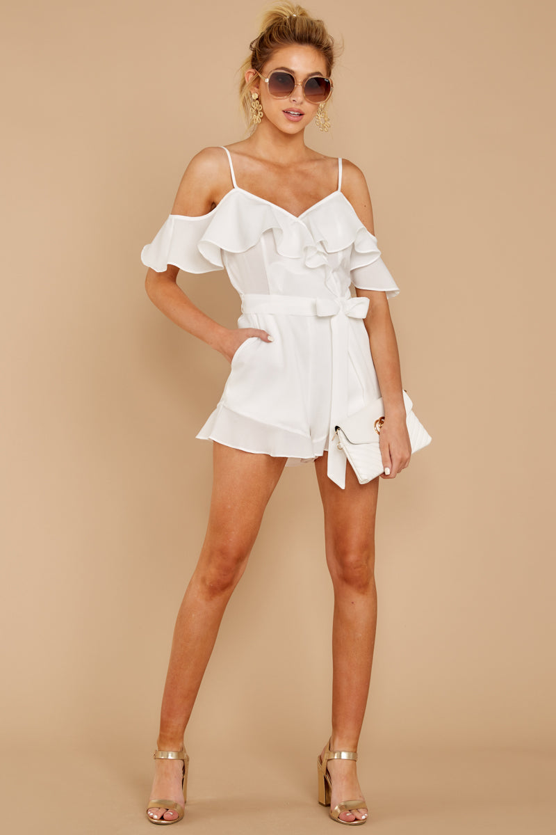 3 Ready For A Trip To The Coast White Romper at reddress.com