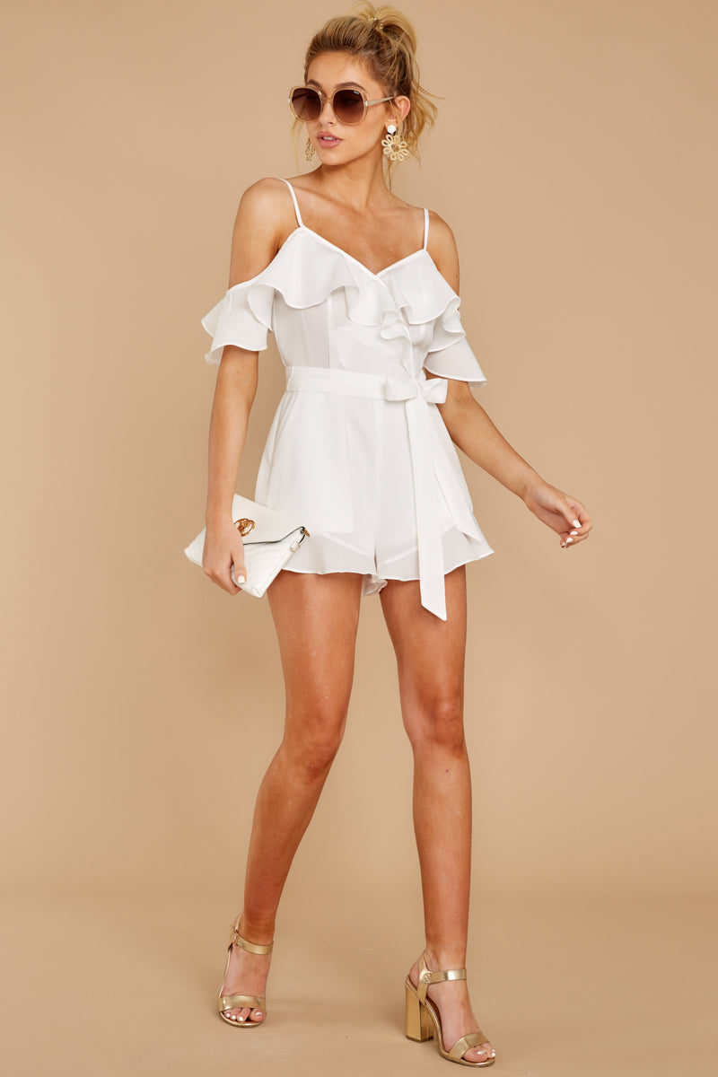 2 Ready For A Trip To The Coast White Romper at reddress.com