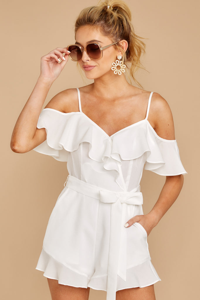 1 A Little Diddy Seafoam Romper at reddress.com