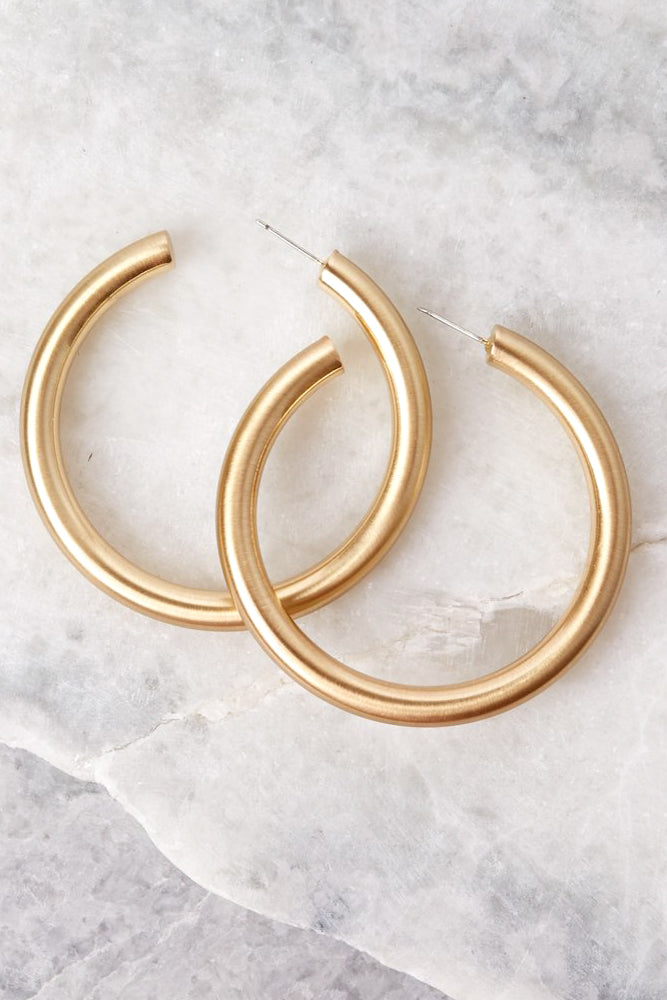 Fly Girl Gold Hoop Earrings