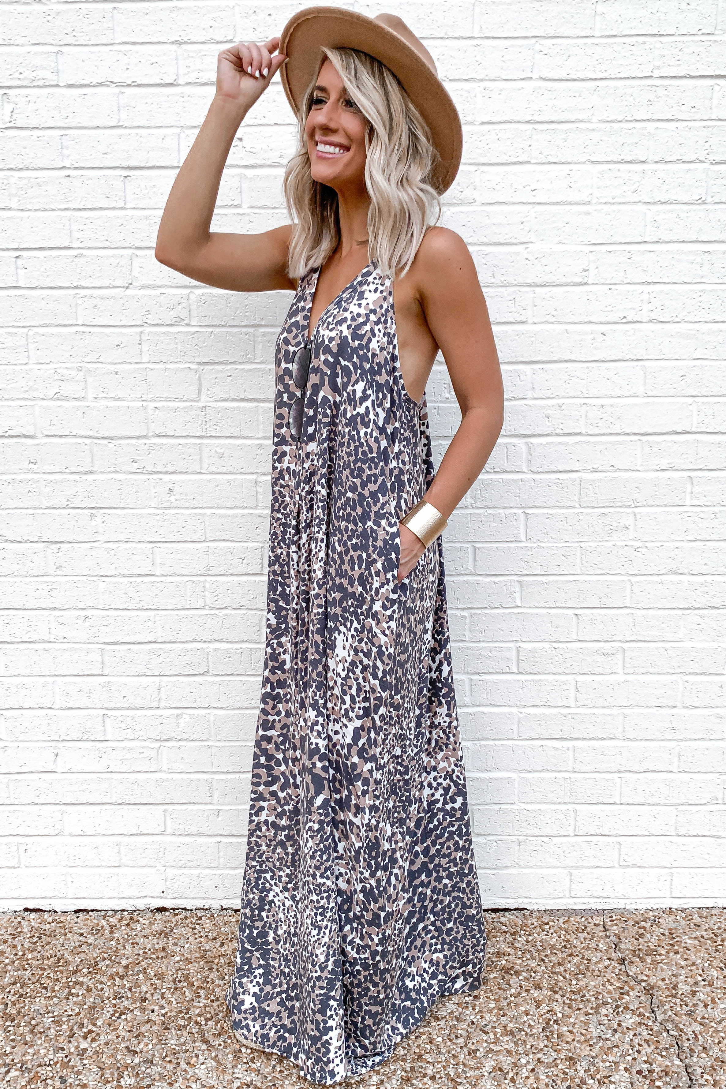 8 Got Away From You Brown Leopard Print Maxi Dress at reddressboutique.com