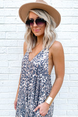 9 Got Away From You Brown Leopard Print Maxi Dress at reddressboutique.com