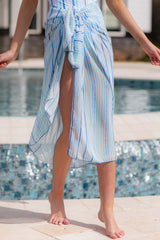 1 Tropic Trends Blue Multi Seaside Stripe Sarong at reddress.com