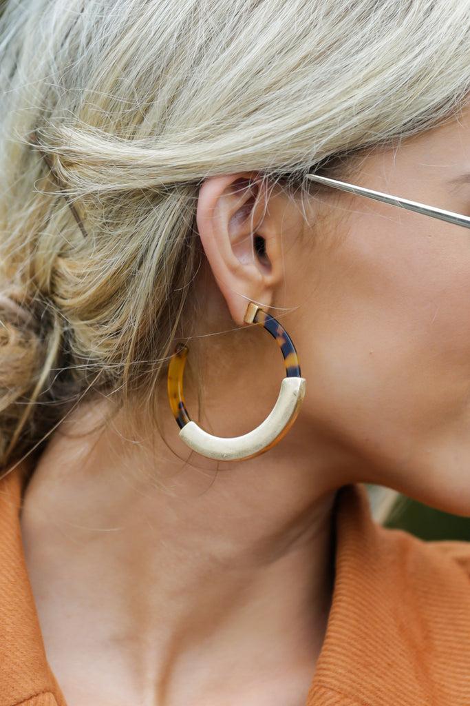3 Well Within Brown Statement Earrings at reddressboutique.com