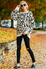 1 Stalk The Trend Leopard Print Sweater at reddressboutique.com