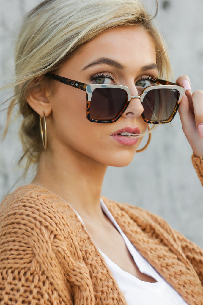 1 On The Prowl Tortoise Rose Mirror Sunglasses at reddressboutique.com