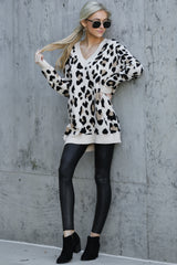 2 In Your Scope Leopard Print Sweater at reddressboutique.com