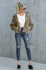 At The Scene Leopard Print Jacket