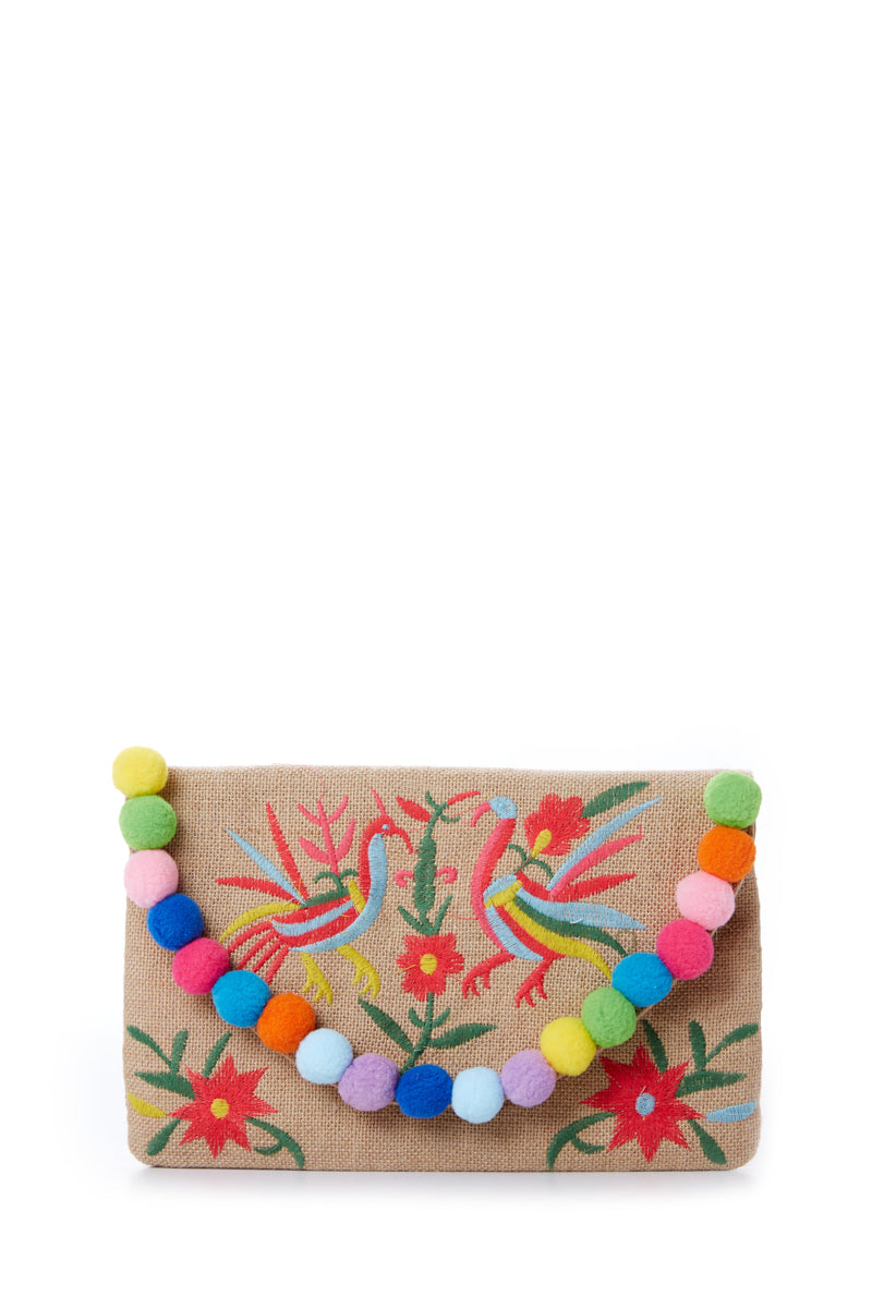 2 Exotic Escape Embroidered Clutch at reddress.com