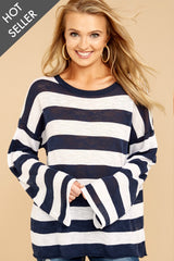 5 Had To Be You Navy Stripe Topat reddressboutique.com