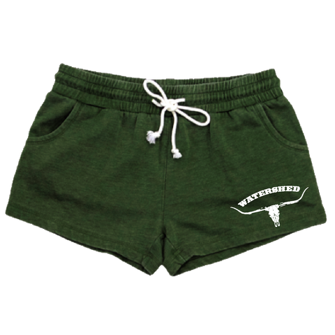 Ladies Green Shorts