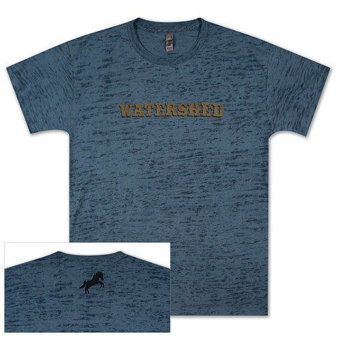 Burnout Blue Tee