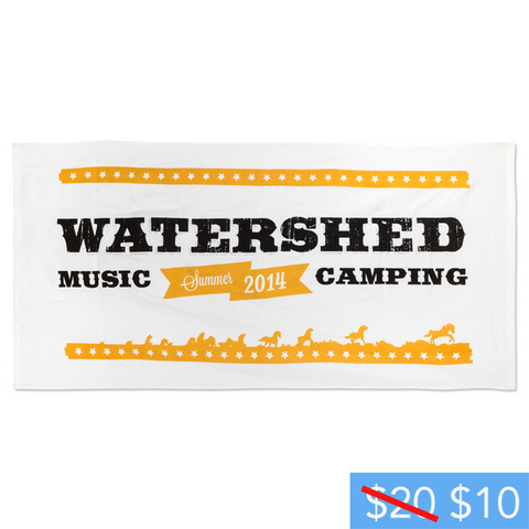 Watershed Festival White 2014 Beach Towel
