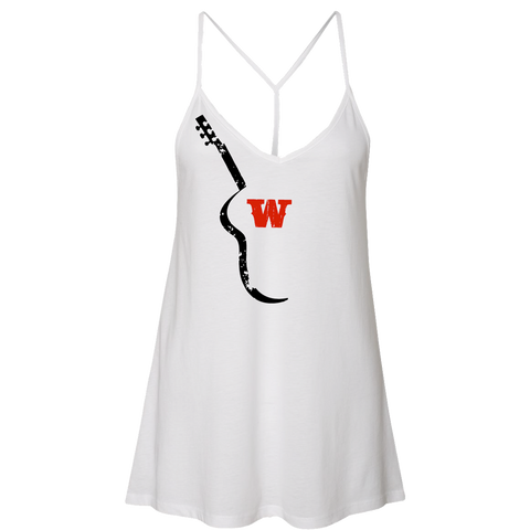 Ladies Guitar Tank - White