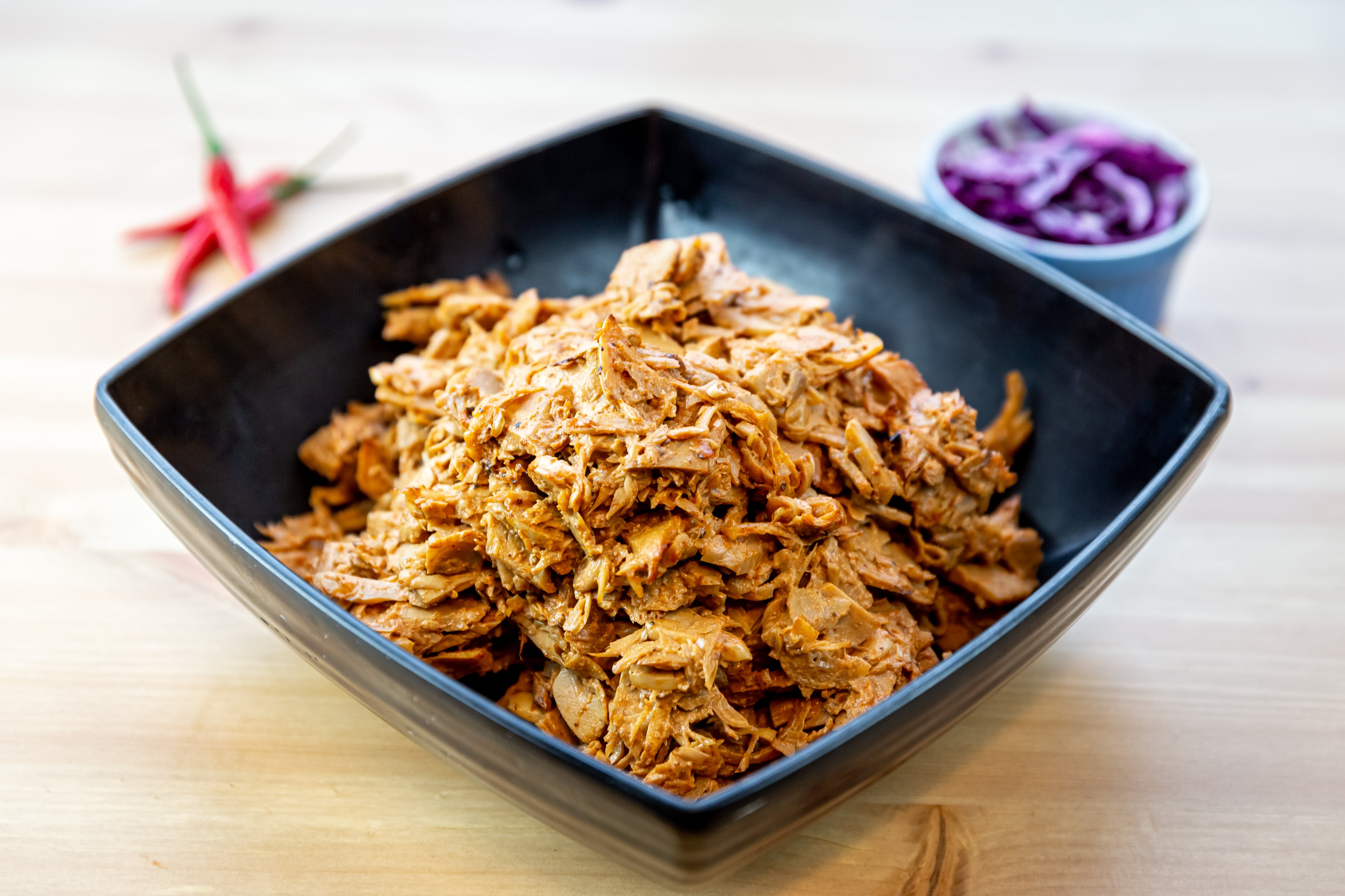 "YAMCHOPS OWN HICKORY BBQ PULLED ""PORK"""