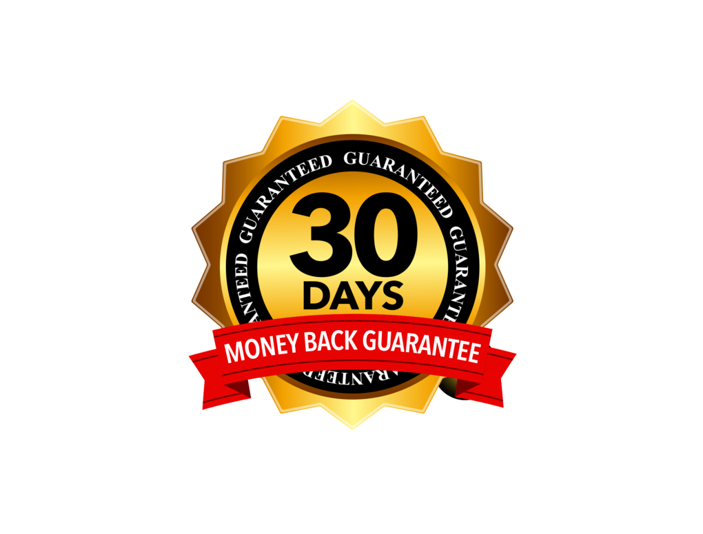 Buy in Confidence with our 30 Day Money Back No Hassle Refund