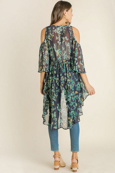 Blue Floral Duster - Creek & Co