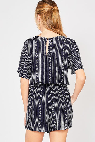 Navy Print Romper - Creek & Co