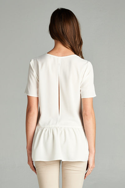 White Peplum Top - Creek & Co