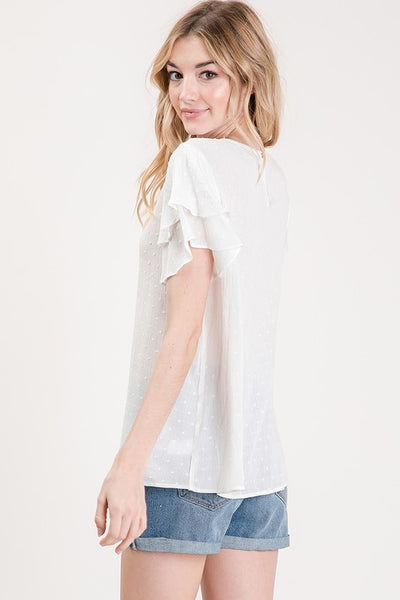 Ivory Embroidered Dot Top - Creek & Co