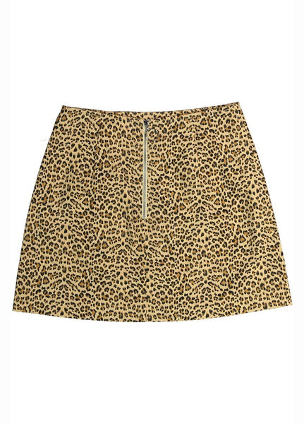 Leopard Print Denim Skirt - Creek & Co