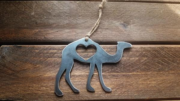 Camel Rustic Steel Ornament - Creek & Co