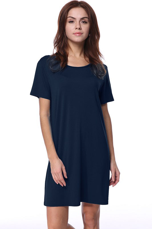Navy Piko Dress