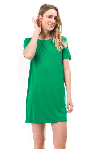 Kelly Green Piko Dress
