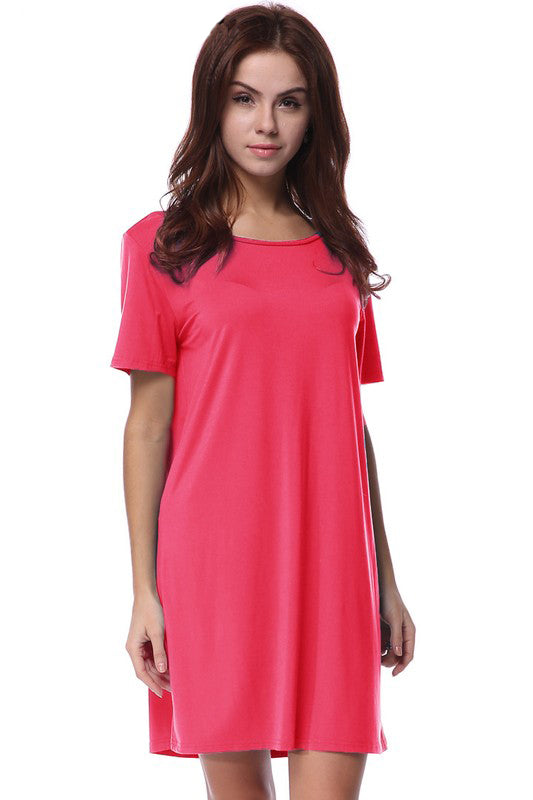 Watermelon Piko Dress