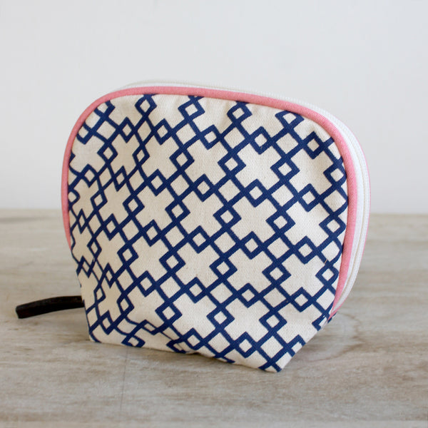 Geometric Print Cosmetic Bag - Creek & Co