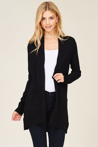 Black Basic Cardigan