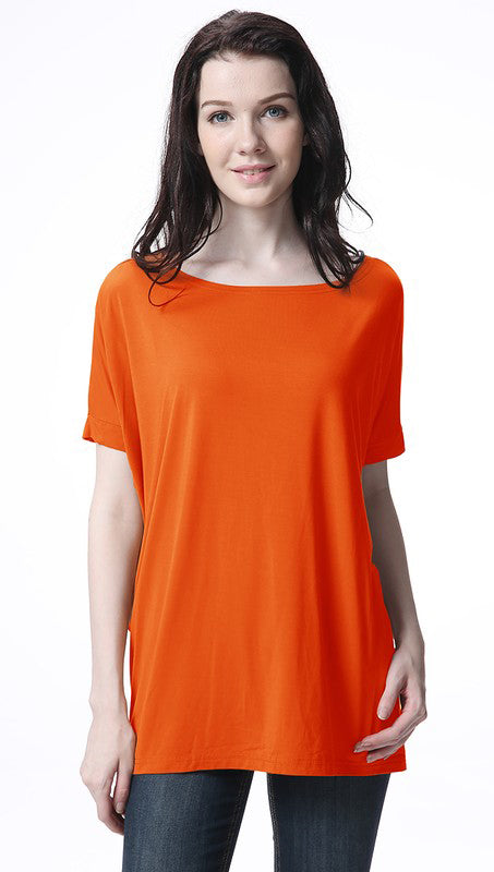 Orange Short Sleeve Piko