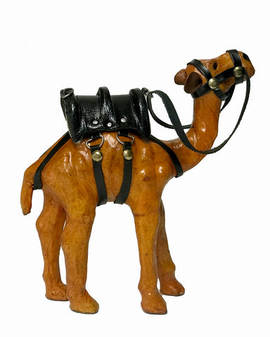 "6"" Leather Camel Figurine"