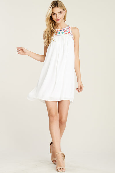 Embroidered Sleeveless Dress - Creek & Co