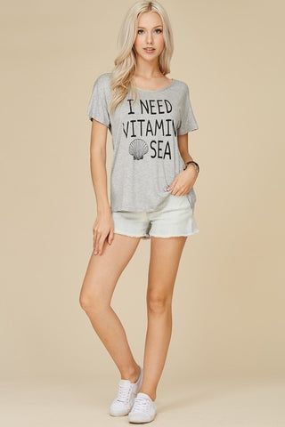 """I Need Vitamin Sea"" Tee - Creek & Co"