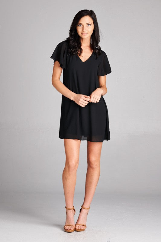 Black Flare Sleeve Dress - Creek & Co