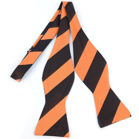 Men's Silk Woven Stripe Gameday Bow Tie - Creek & Co