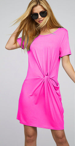 Fuchsia Front Twist Dress - Creek & Co