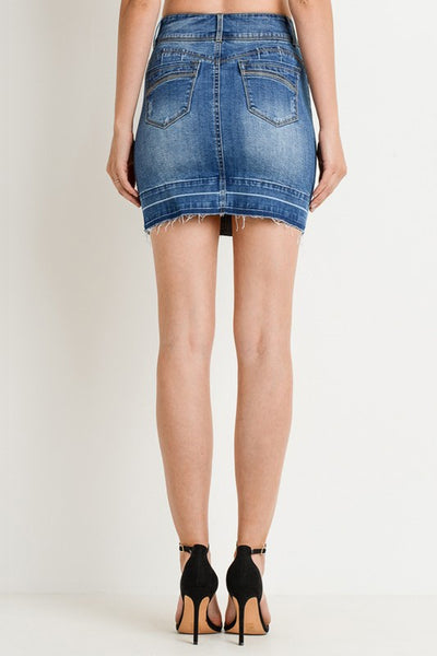 Distressed Denim Skirt - Creek & Co
