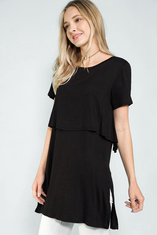Black Layered Tunic - Creek & Co