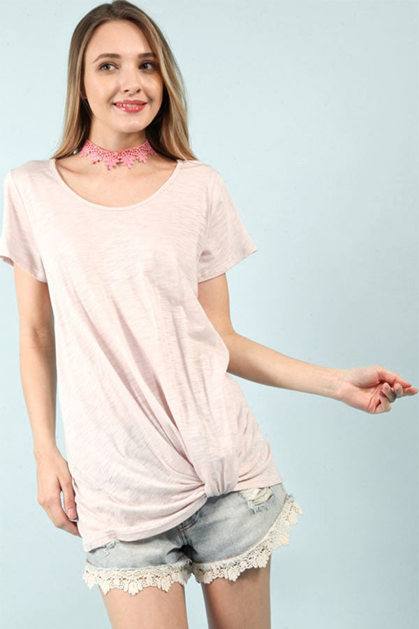 Blush Scoop Neck Knot Top - Creek & Co