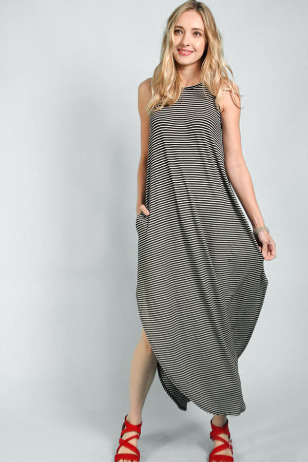 Black Striped Maxi - Creek & Co