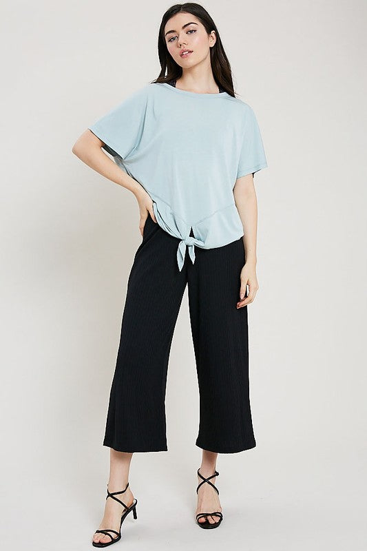 Sage Front Knot Top - Creek & Co